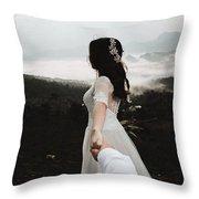 Following My Bride Throw Pillow