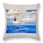 Following Sea Throw Pillow