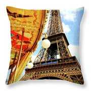 Following The Curve Throw Pillow