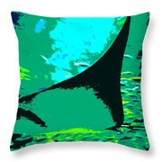 Following The Great Ray Throw Pillow