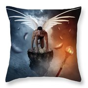 Following The  Lights Throw Pillow