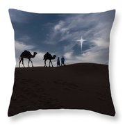 Following The Star Throw Pillow