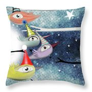 Following The Stars Throw Pillow