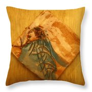 Follows Me - Tile  Throw Pillow
