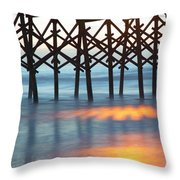 Folly Beach Abstract Throw Pillow