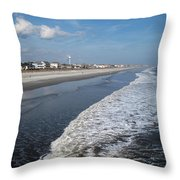 Folly Beach Charleston Sc Throw Pillow