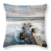Folly Beach Charleston South Carolina Throw Pillow