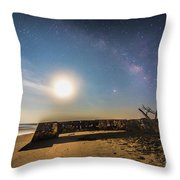 Folly Beach Milky Way Throw Pillow