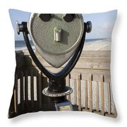 Folly Beach Pay Binoculars Throw Pillow