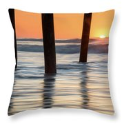 Folly Beach Sunrise Charleston South Carolina Throw Pillow