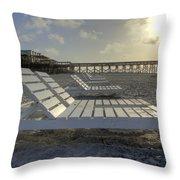 Folly Beach Sunrise Lounger Throw Pillow