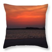Folly Beach Sunset Throw Pillow