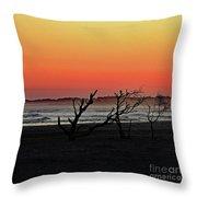 Folly Beach Sunset Throw Pillow