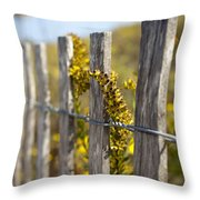 Folly Beach Wild Flowers Throw Pillow