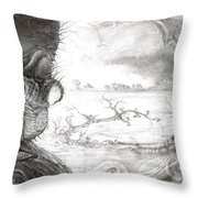 Fomorii Swamp Throw Pillow
