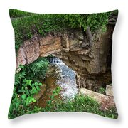 Fonferek Glen Rock Bridge And Falls Throw Pillow