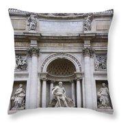Fontana De Trevi Throw Pillow