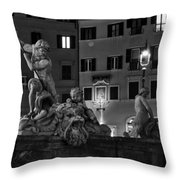 Fontana Del Nettuno Throw Pillow