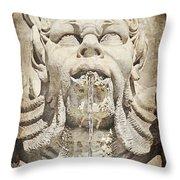Fontana Del Pantheon 2 Throw Pillow