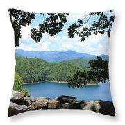Fontana Lake At The Dam Throw Pillow