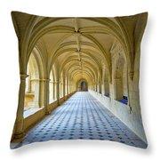 Fontevraud Abbey Cloister, Loire, France Throw Pillow