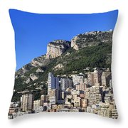 Fontvieille Monaco Throw Pillow