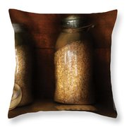 Food - Corn Yams And Oatmeal Throw Pillow