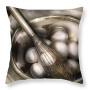 Food - Mix In The Eggs Throw Pillow