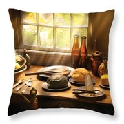 Food - Ready For Guests Throw Pillow