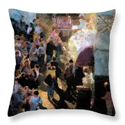 Food Alley At The Country Fair Throw Pillow