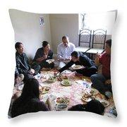 Food And Fellowship Throw Pillow