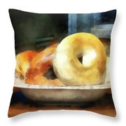 Food - Bagels For Sale Throw Pillow