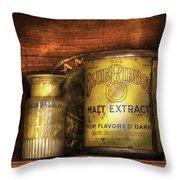 Food - Blue Ribbon Malt Extract Throw Pillow