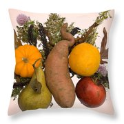 Food Bouquet Throw Pillow