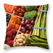 Food Compartments  Throw Pillow
