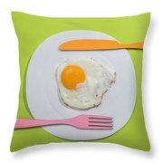 Food Concept With Paper Throw Pillow