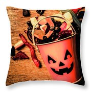 Food For The Little Halloween Spooks Throw Pillow