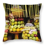 Food In Bali Throw Pillow