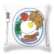 Food Of The Gods Throw Pillow