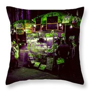 Food Stand Throw Pillow