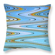 Foot Bridge Abstract Throw Pillow