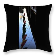Foot Bridge Reflections 487 Throw Pillow