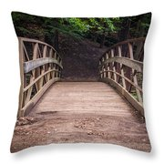 Foot Bridge Waiting Throw Pillow