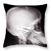 Foot In Mouth X-ray Throw Pillow