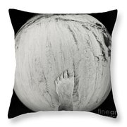 Foot On Earth Throw Pillow