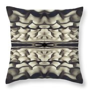Foot Prints In The Snow - 3 Throw Pillow