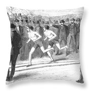 Foot Race, 1868 Throw Pillow