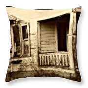 Foot Steps On The Front Porch  Throw Pillow
