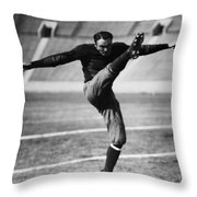 Football, 20th Century Throw Pillow