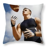 Football Athlete I Throw Pillow by Kicka Witte - Printscapes